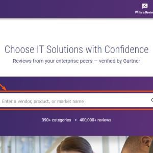 IT ソリューションのレビューサイト|Gartner peer insights