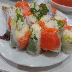 マイトサーモン料理~生春巻き編~