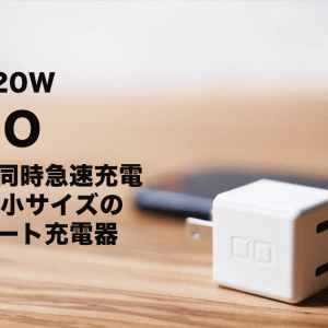 CIO-PD20W レビュー 500円玉サイズの極小2ポートの20W急速充電器