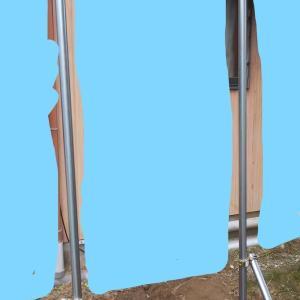 単管パイプで庭に懸垂器具を自作(DIY)念願叶う