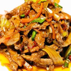 牛肉とセロリの辛味炒め