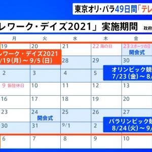 【家から出るな】政府「五輪期間中の49日間はテレワーク・デイズとします」★3  [和三盆★]