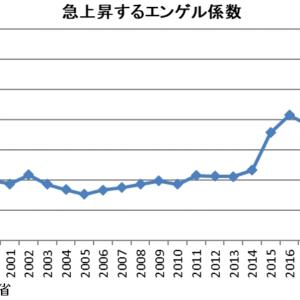 【緊急】日本のエンゲル係数 急上昇★2  [スダレハゲ★]