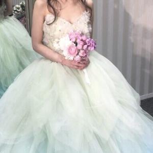 【20代・30代花嫁の結婚式カラードレス試着】クチュールナオコ/ティンカーベルドレスDWS0027