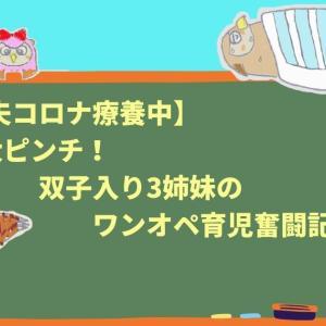 【夫コロナ療養中】大ピンチ!双子入り3姉妹のワンオペ育児奮闘記