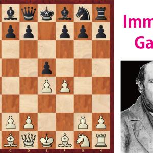 ーチェスの有名棋譜解説1ー 不滅のゲーム Immortal