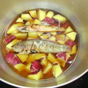 サツマイモと野菜の煮物
