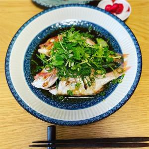 和食にしようと決めてたけど中華になった日の晩ごはん/連子鯛の中華蒸しレシピほか