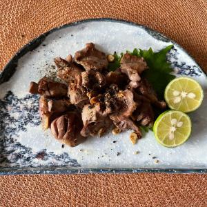 砂肝の塩焼き/たらこのスパサラ/蛤の白ワイン蒸し
