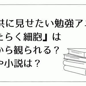 【子供に見せたい勉強アニメ】『はたらく細胞』は何歳から観られる?漫画や小説は?