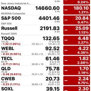 米国株好決算、利益確定売りで下落