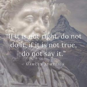 正しいことでなければ、それをしてはいけませんし、真実でなければ、それを言ってはいけません。