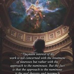私の仕事の主な関心は、神経症の治療ではなく、むしろ、ヌミナスへのアプローチにあります。