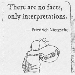 事実はなく、解釈だけがある。 - フリードリヒ・ニーチェ
