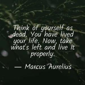自分は「死んだ」と思え。生きてきたのだから  生きてきた。あとは、残されたものをちゃんと生きよう。  適切に生きよう。