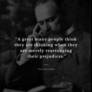 多くの人は、自分が考えていると思っているが、単に自分の偏見を並べ替えているだけである。