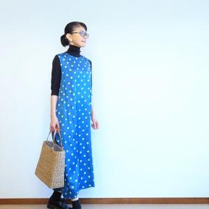 ノースリーブドレスをジャンパースカート風に~