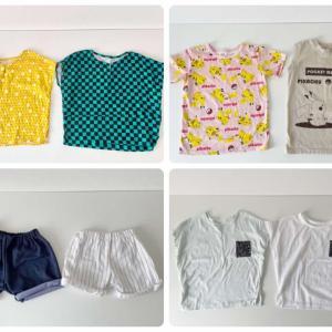 少ない服で着回す[こども服編]夏はトップス9枚・ボトムス5本の14着