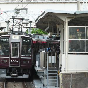 十三駅で駅撮り。8000系クラシックスタイル