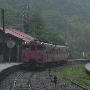 雨の柴山駅