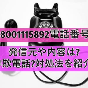 08001115892電話番号の発信元や内容は?詐欺電話?対処法を紹介!