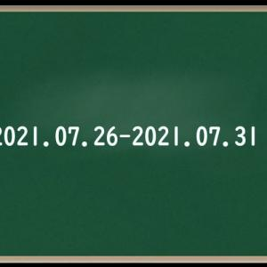 わたしのウォーキング記録(2021.7月⑤)
