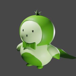 ブログのキャラクターを3D化してみた