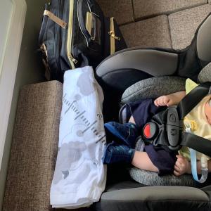 軽キャブコンオハナにチャイルドシートを設置して車中泊してみた