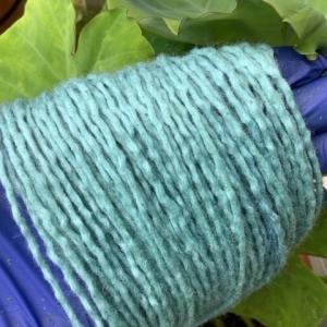 藍の生葉染めに挑戦しました。ゆっくり楽しみたいけど、これは時間との勝負。手際よく染めましょう!