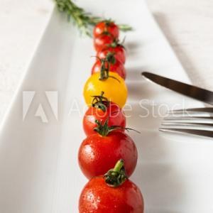 トマトの写真を撮りました