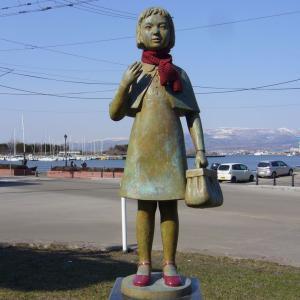 赤い靴の少女像