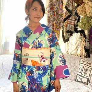 ライブ配信コーディネート カマキリに鯉 #浴衣