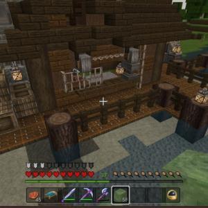 村に小さな鍛冶屋さんを作るマイクラ統合版♯23