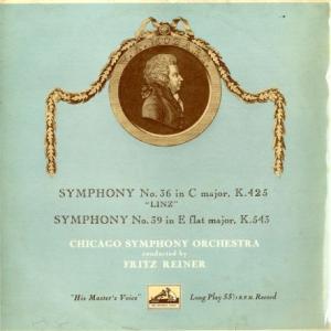 GB EMI ALP1403 フリッツ・ライナー シカゴ交響楽団 モーツァルト 交響曲36番「リンツ」&39番