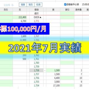 7月度実績(20日間)+570円
