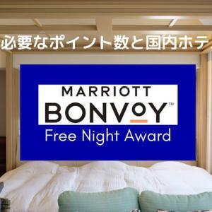 Marriott Bonvoy無料宿泊に必要なポイント数と国内ホテル一覧。お得な宿泊方法など