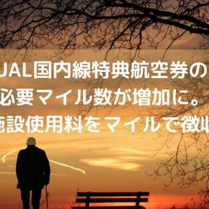 【改悪】JAL国内線特典航空券の必要マイル数が増加に。旅客施設使用料をマイルで徴収開始
