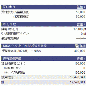 OSSANの資産状況【2021年7月】
