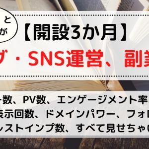 【開設3か月】ブログ・SNS運営、副業報告