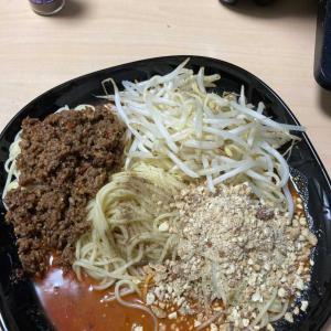 糖質ゼロ麺で汁無し坦々麺