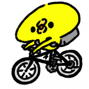術後初、自転車〓に乗りました