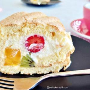 スイスで嬉しい友人の作るフワフワロールケーキ(誕生日用)で夫の誕生日を祝う!そして、コーヒーマリアージュ