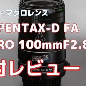 【レビュー】smc PENTAX-D FA MACRO 100mmF2.8 WR開封の儀【マクロレンズ】
