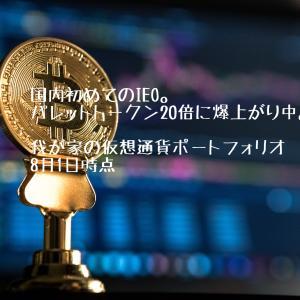 既に20倍‼︎ IEO当選したパレットトークン。 我が家の仮想通貨(暗号資産)のポートフォリオ公開 8月1日時点
