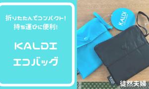 持ち運びに便利!折りたたんでコンパクトに収納できるKALDIのエコバッグ!