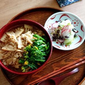 4/18*たけのこラーメン (パスタ麺)