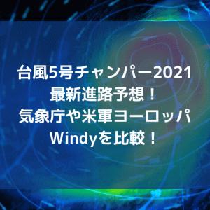 台風5号チャンパー2021最新進路予想!気象庁や米軍ヨーロッパWindyを比較!