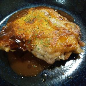 鶏もも肉のステーキ 手抜きでもワイルドだろ~(^^)v