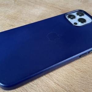 【購入】高級なフィッティング!iPhone12 Pro Max 純正レザーケース(ディープバイオレット)