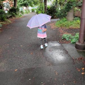 雨の日散歩♪